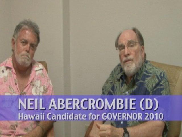Jason Schwartz with Neil Abercrombie, running for Hawaii Governor 2010