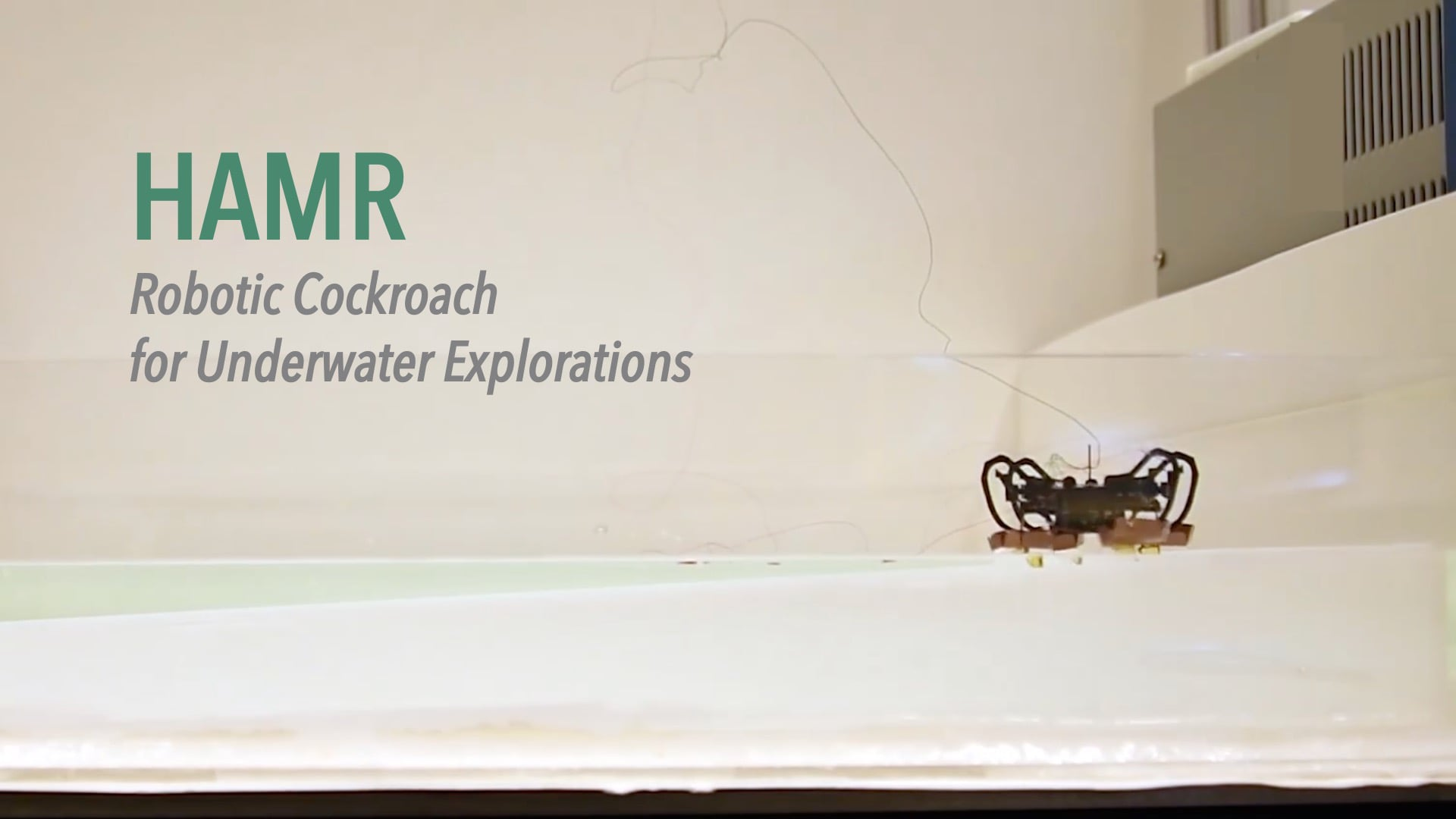 HAMR: Robotic Cockroach for Underwater Explorations