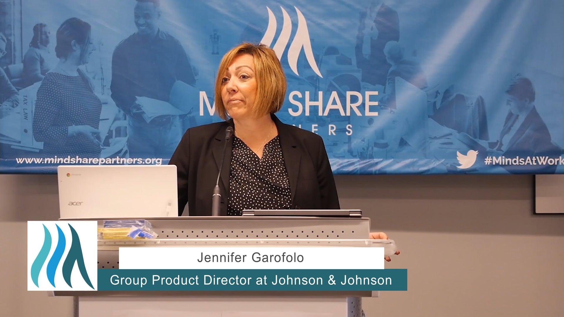 Jennifer Garofolo, Johnson & Johnson - Mental Health at Work Mini-Conference, May 2018
