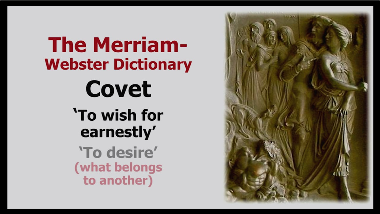 10th Commandment: Covet