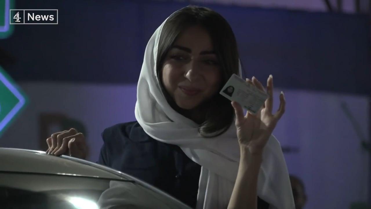 CHANNEL 4 NEWS - JEDDAH, SAUDI ARABIA - JUNE 2018 - WOMEN ALLOWED TO DRIVE