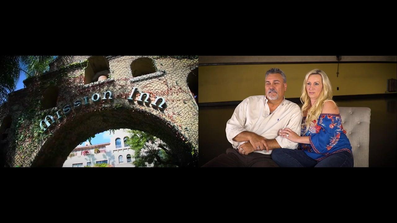 Shelby & Steve Viewing their Wedding Video Highlight Film ~ Mission Inn & Loft 84 in Riverside, CA