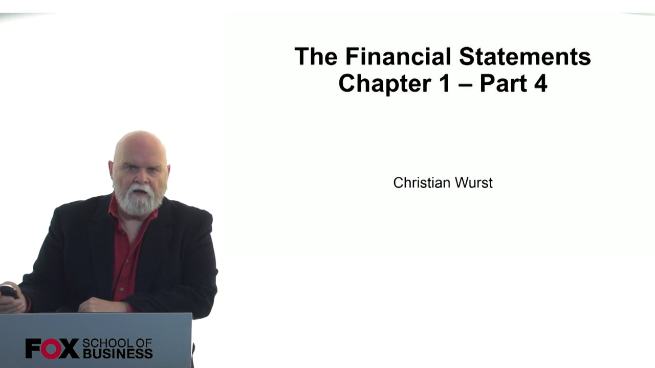 60827The Financial Statements – Chapter 1 – Part 4
