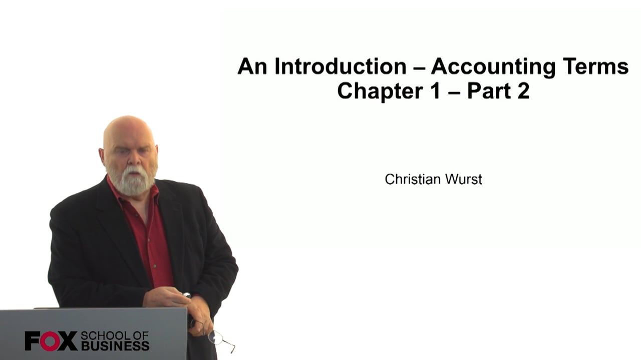 60833An Introduction – Accounting Terms Chapter 1 – Part 2