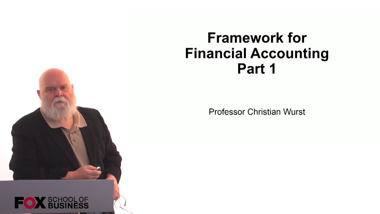 60838Framework for Financial Accounting Part 1