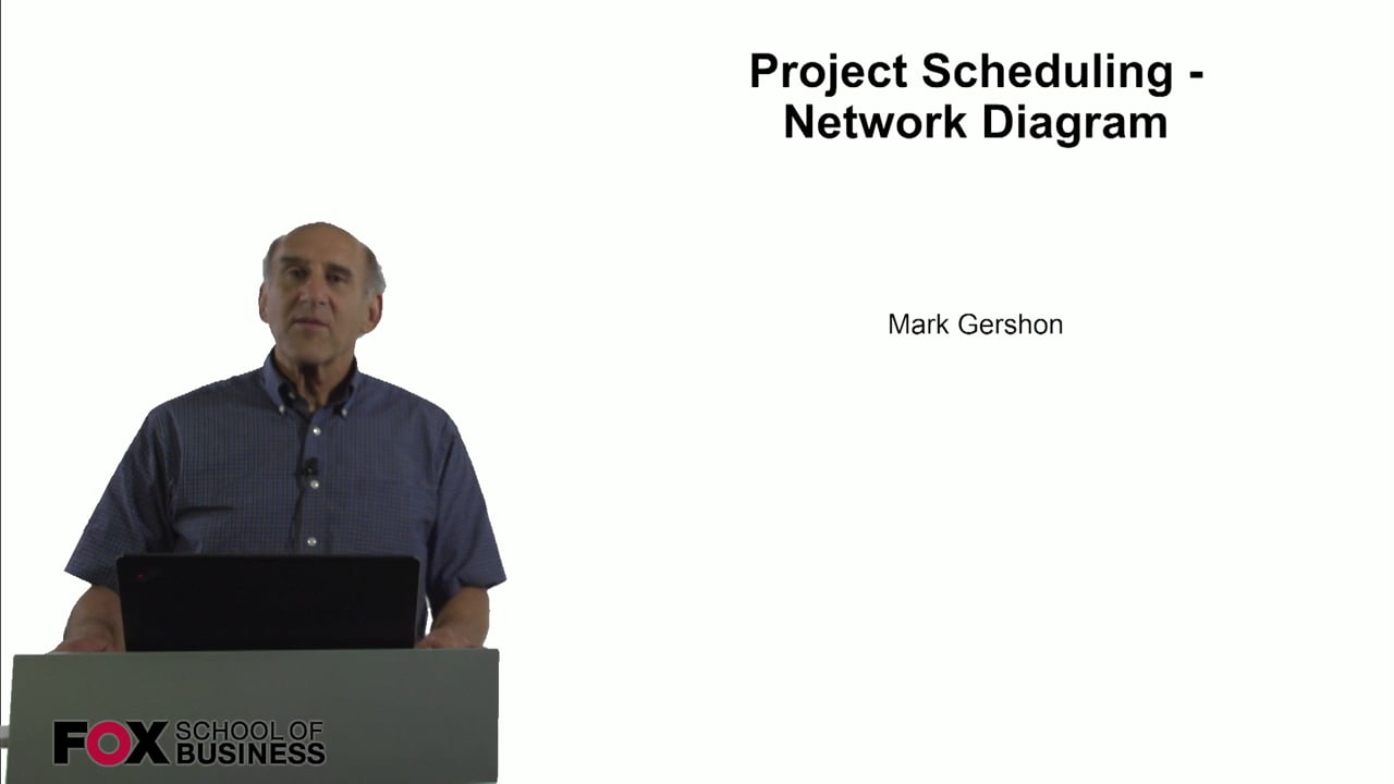60820Project Scheduling – Network Diagrams