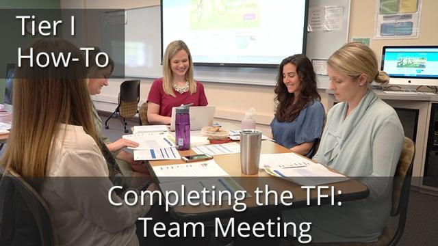 Example TFI Team Meeting