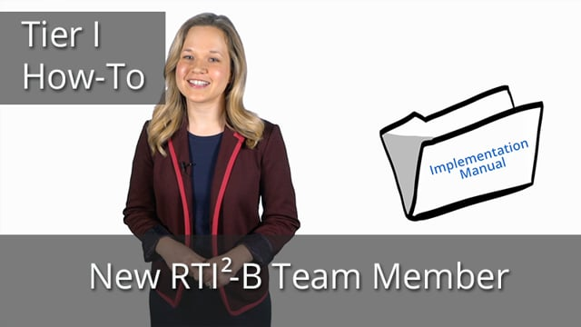 New Tier I Team Member : Catching up on RTI2-B