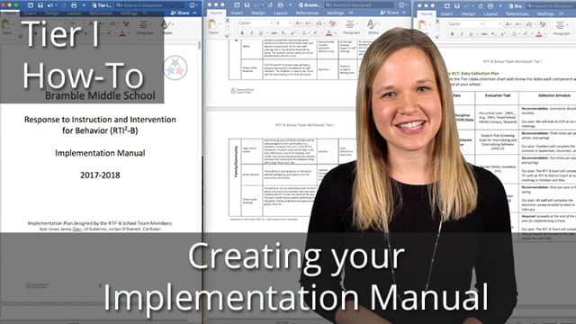 Creating Your RTI2-B Implementation Manual