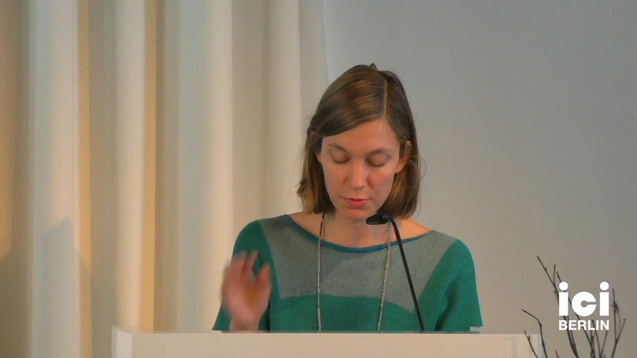 Talk by Barbara Nagel