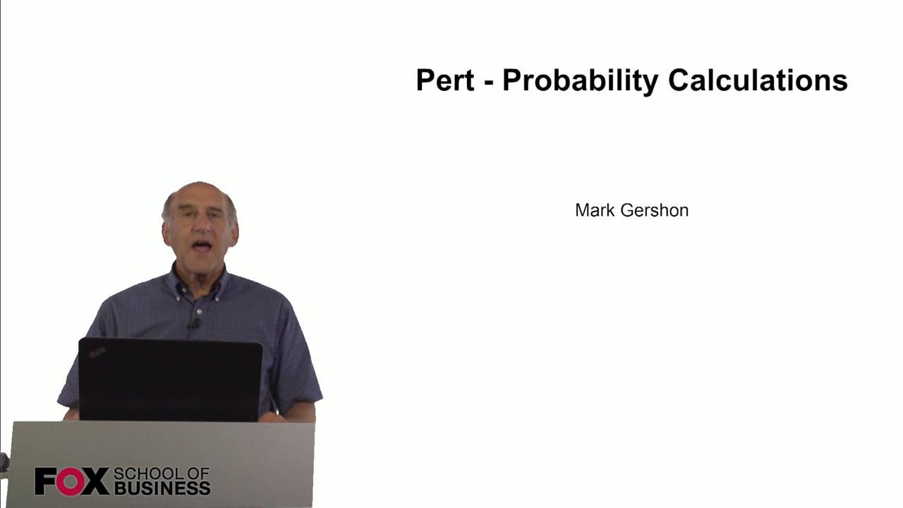 60819Pert – Probability Calculations