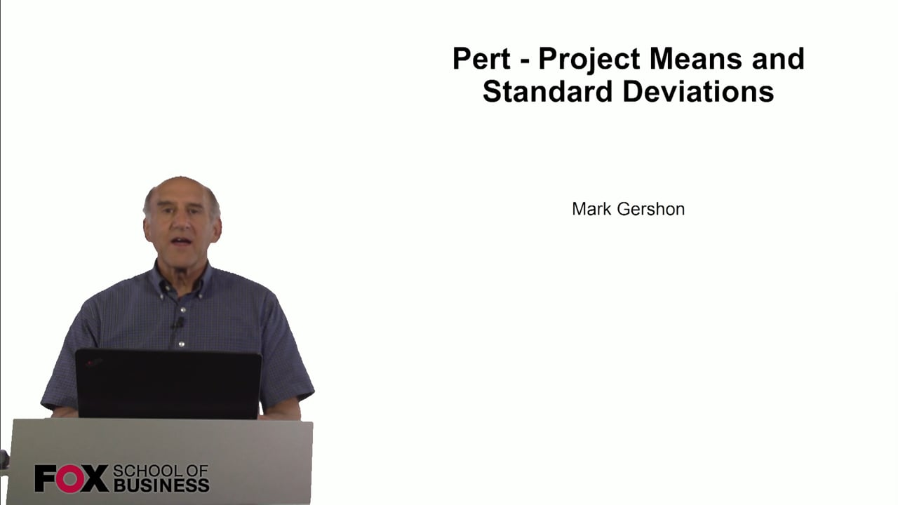 60818Pert – Project Means and Standard Deviations