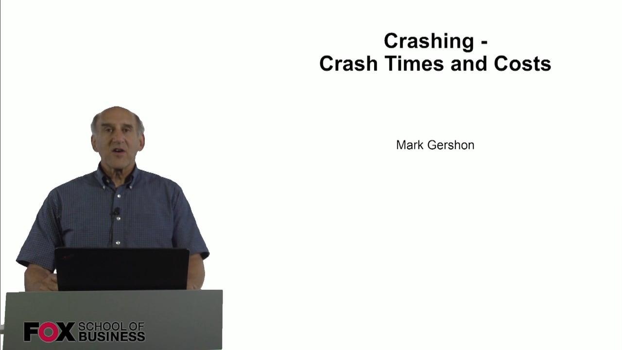 60806Crashing – Crash Times and Cost