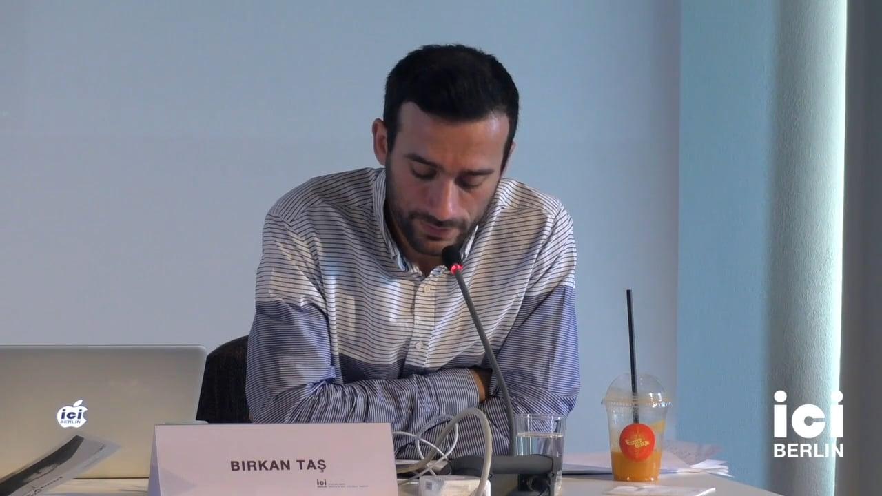 Talk by Birkan Tas (Panel I)