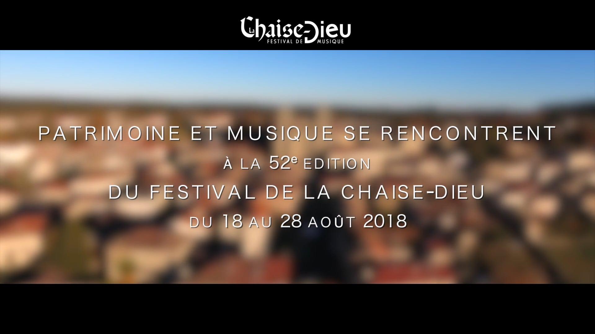 TEASER FESTIVAL DE LA CHAISE-DIEU 2018