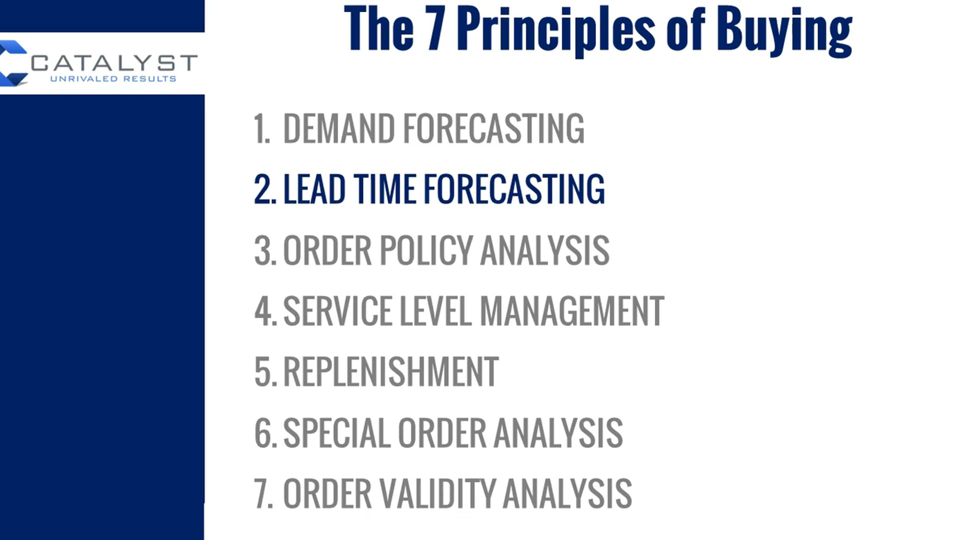 2 LEAD TIME FORECASTING