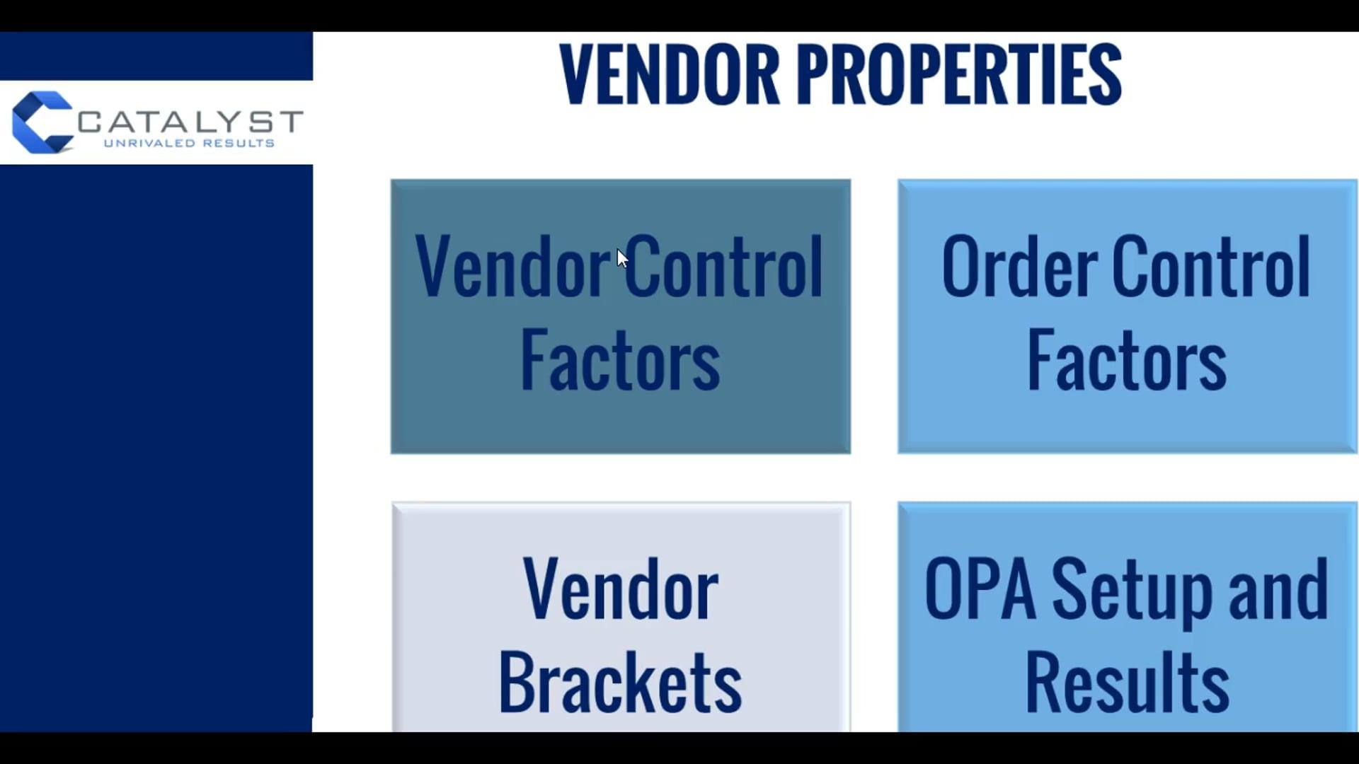 SI 4 - Vendor Control Factors