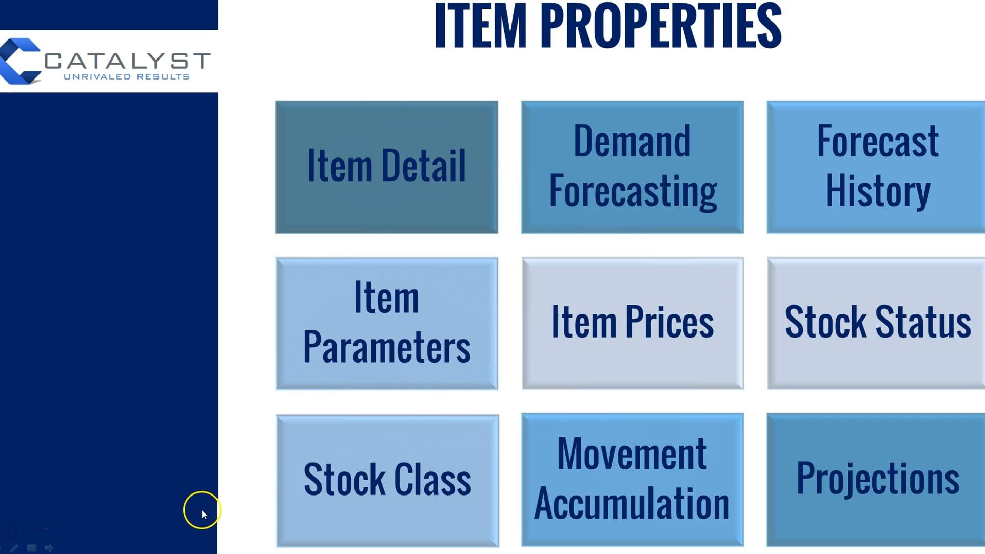 SI 8 - E3 Item Properties