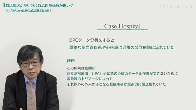 [case:11 #3] 救急搬送が多いのに救急医療係数が低い?「必要なのは救急応需体制の充実」(病院経営ケーススタディー)