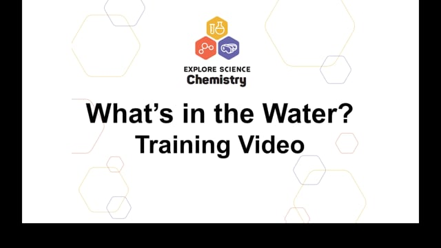 What's In the Water? Training Video