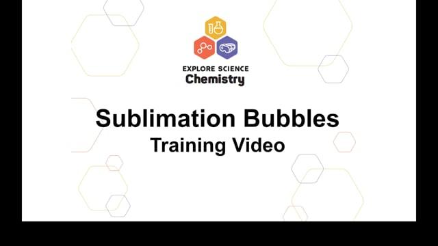 Sublimation Bubbles Training Video