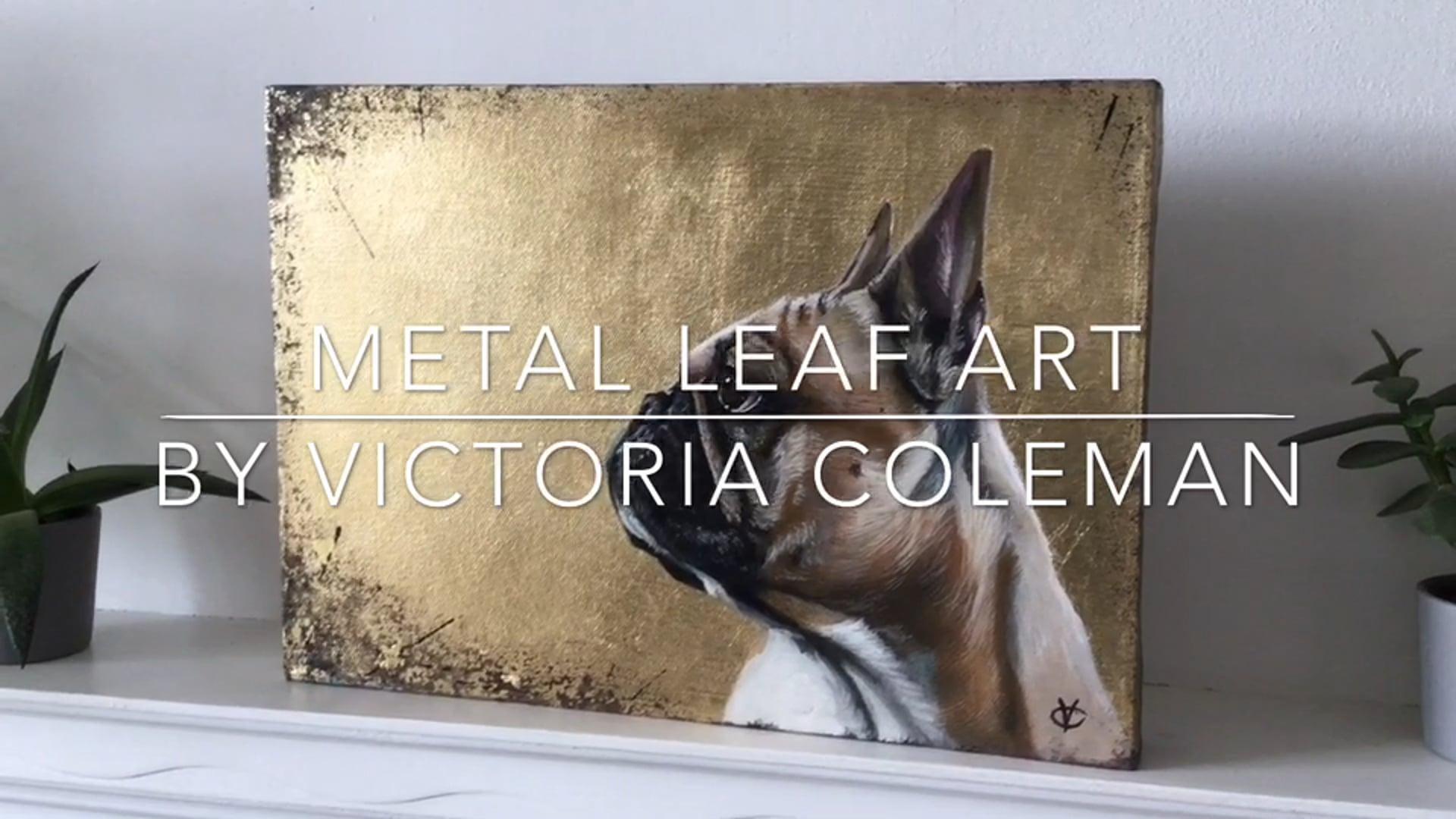 Metal leaf art by Victoria Coleman