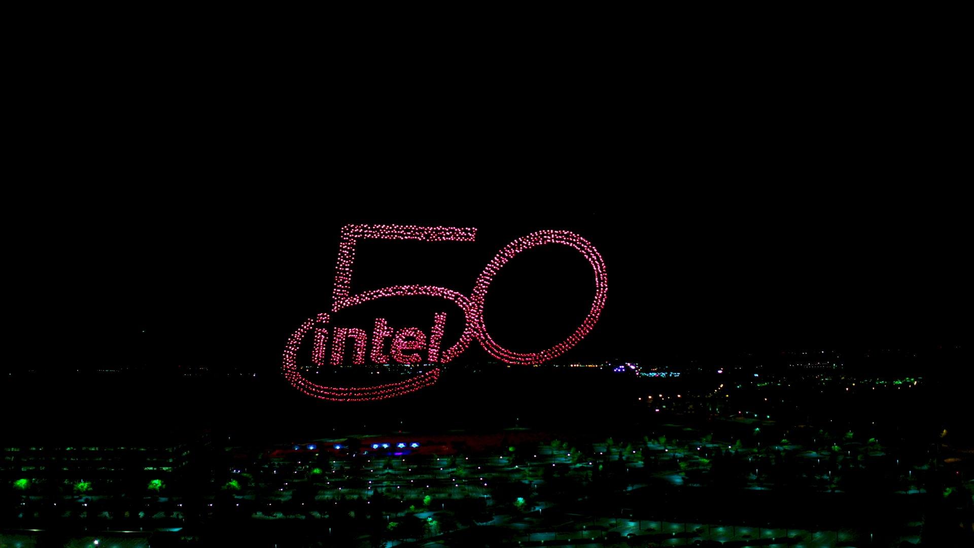 Espectáculo Intel 50th Anniversary