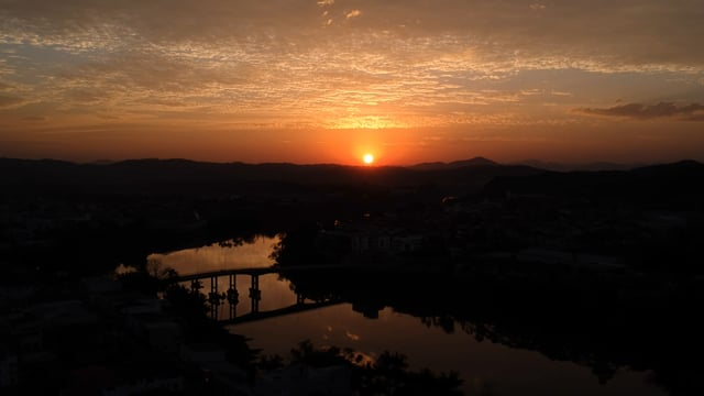 Pôr do sol Gaspar - SC
