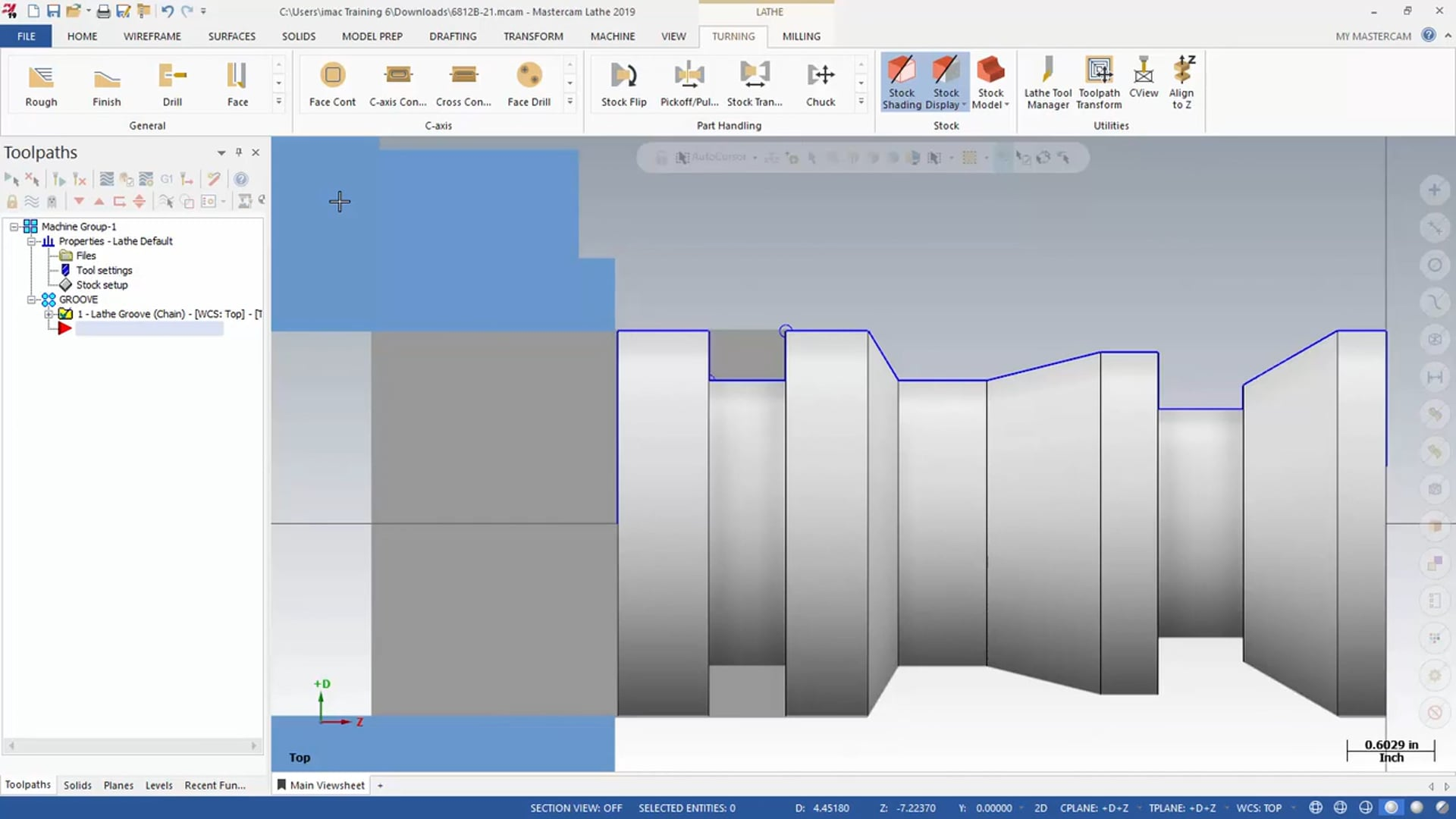 Lathe Toolpath Groove - Part 2