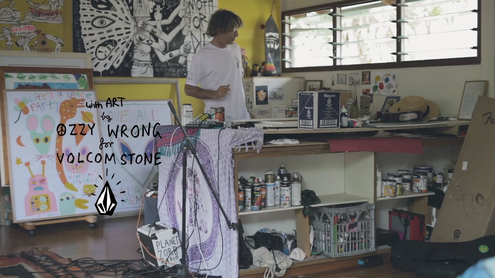 VOLCOM STONE - Shreditation with Art By Ozzy Wrong