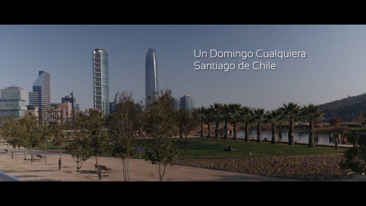 Un día de Domingo en Santiago de Chile