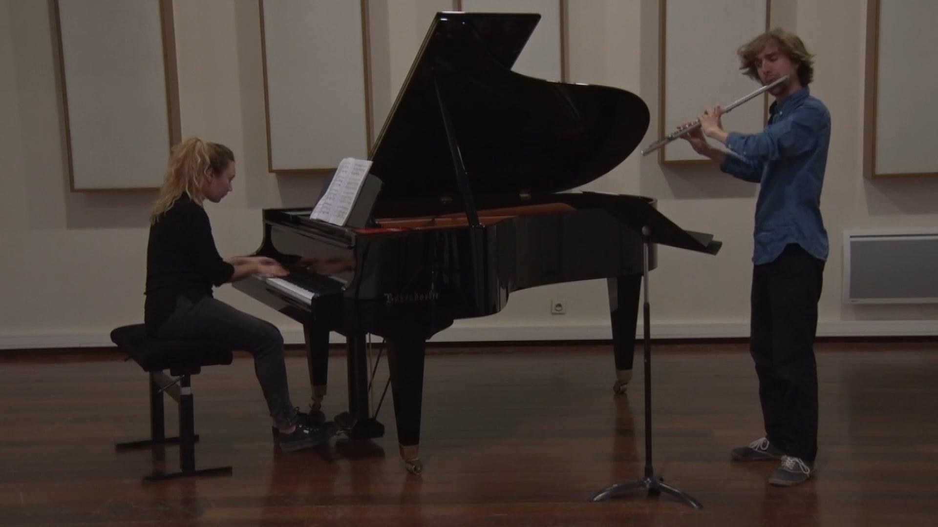 Muczynsky - Sonate pour flûte et piano - 1er mvt