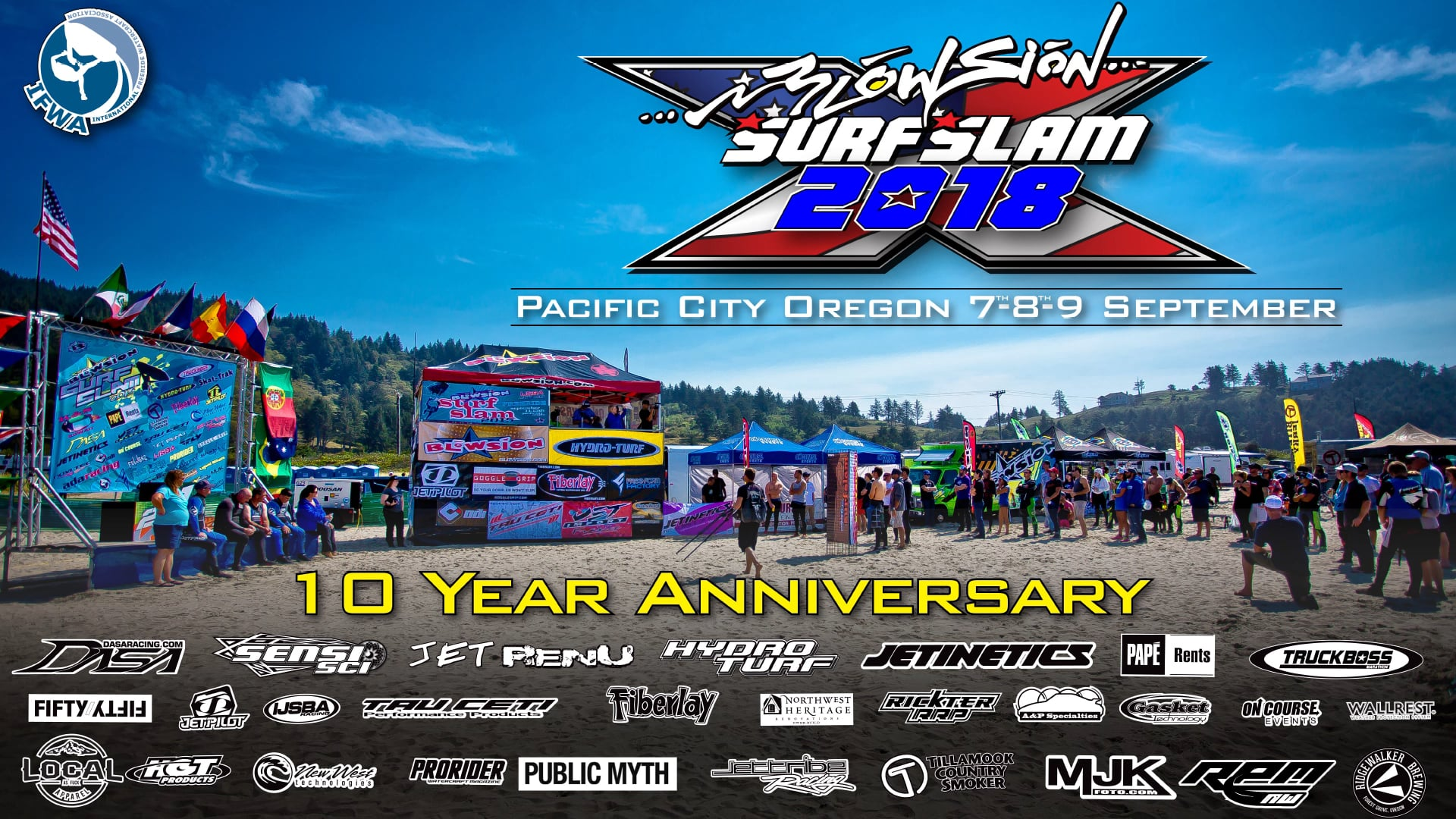 IFWA 2018 Freeride World Tour Stop 4: Blowsion SurfSlam Pacific City, Oregon USA - Sept 7-9th