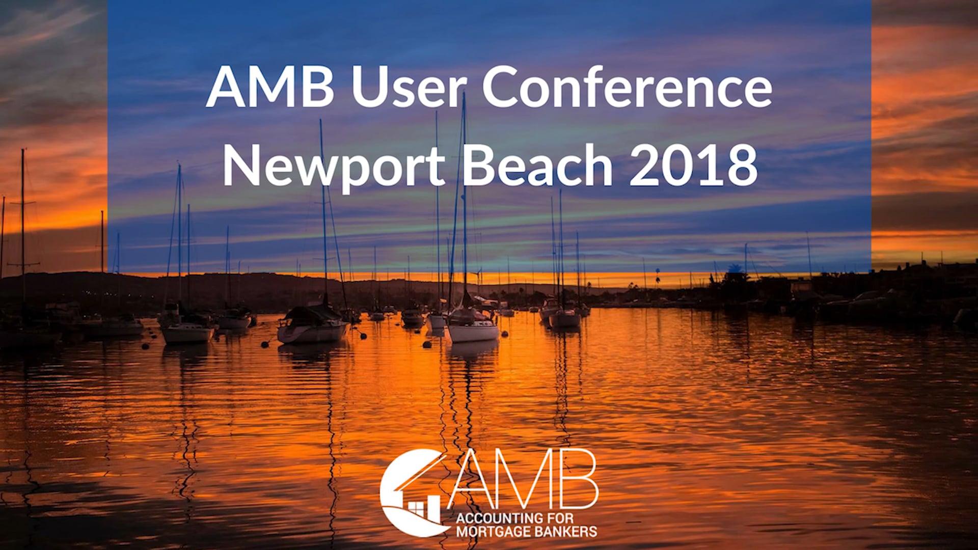 AMB User Conference Newport Beach 2018