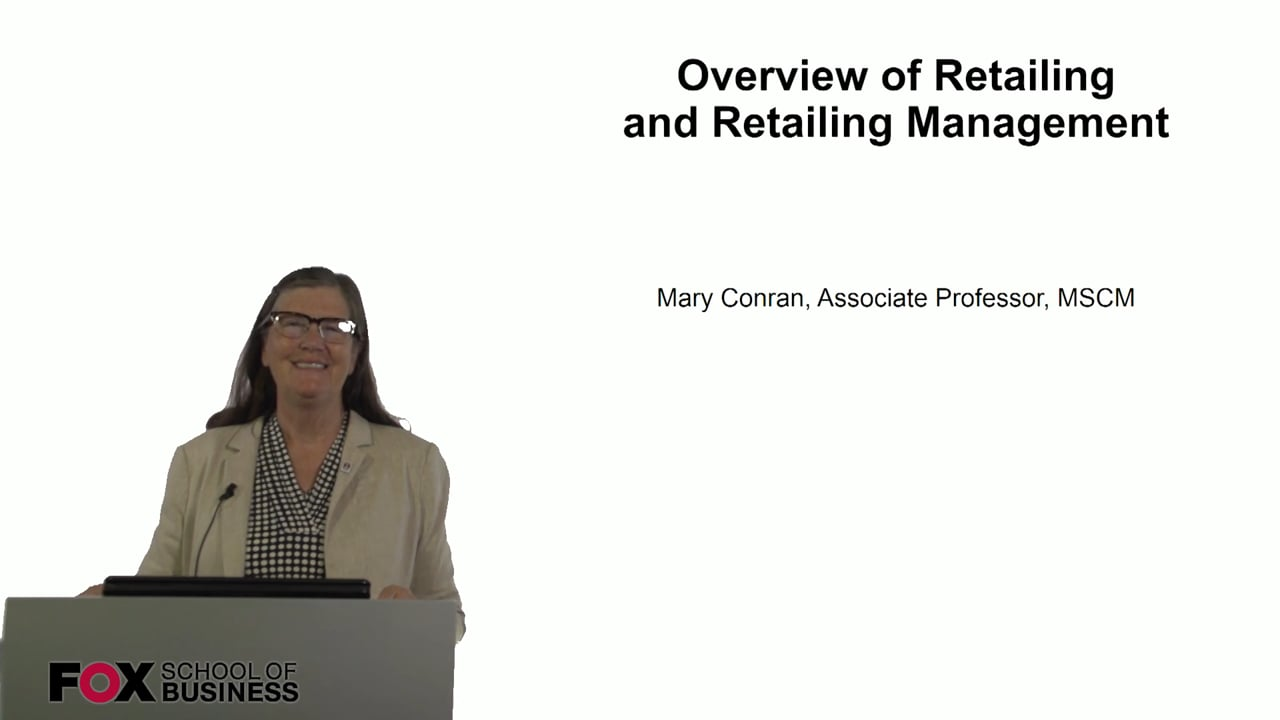 60837Overview of Retailing and Retailing Management