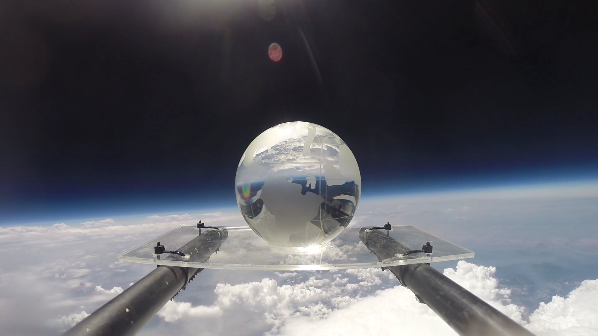 A Crystal Earth Globe in the Stratosphere