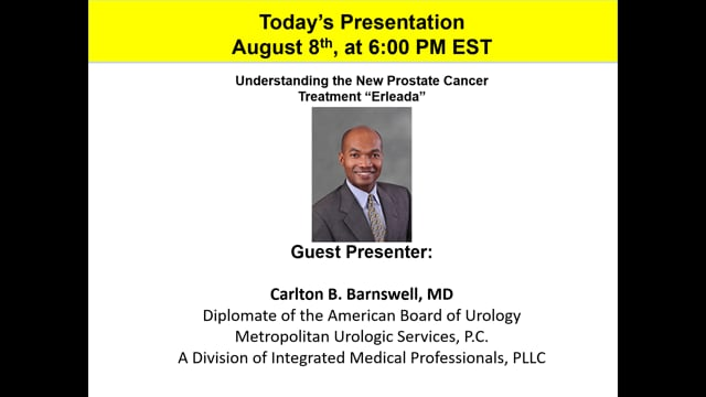 Erleada-Understanding this New Prostate Cancer Treatment with Dr. Carlton Barnswell