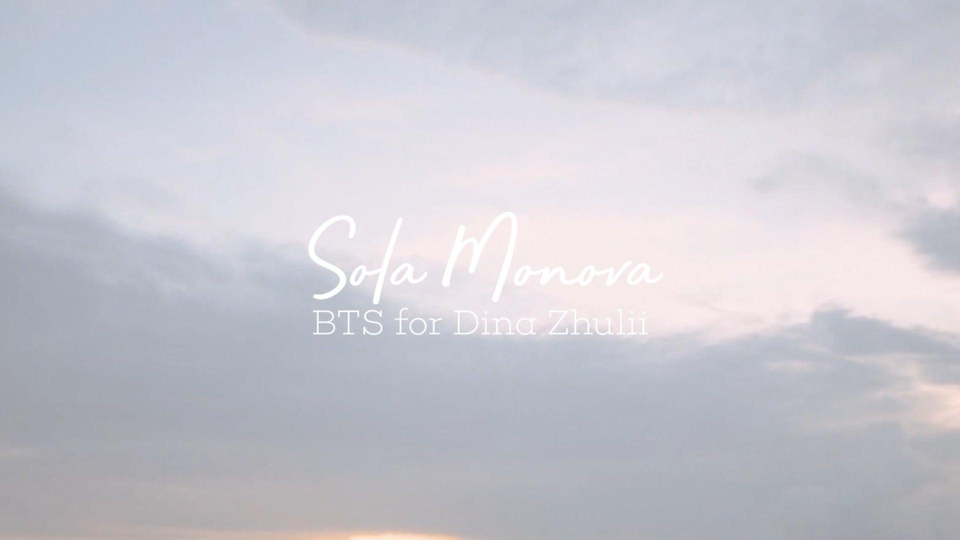 Sola Monova in BTS for Dina Zhulii