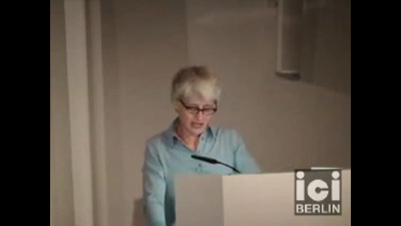 Talk by Elizabeth Povinelli (Part I)