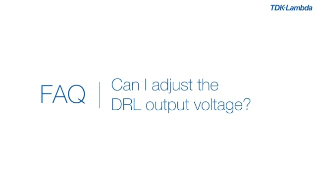 Can the output voltage of a DRL DIN Rail power supply be adjusted?