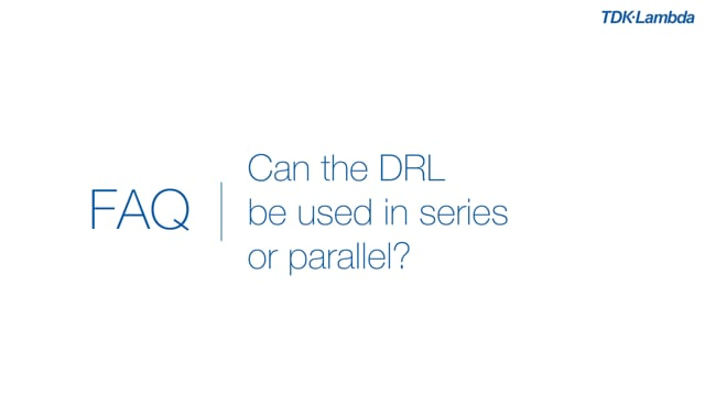 Can DRL Din Rail power supplies be connected in parallel?