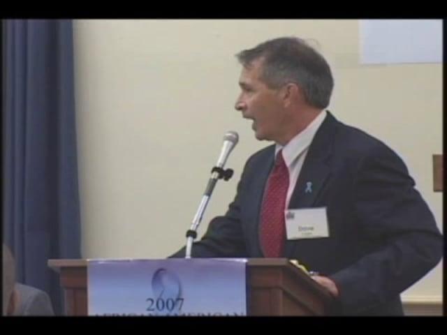 Mr. David Capps speaks at the 2007 summit