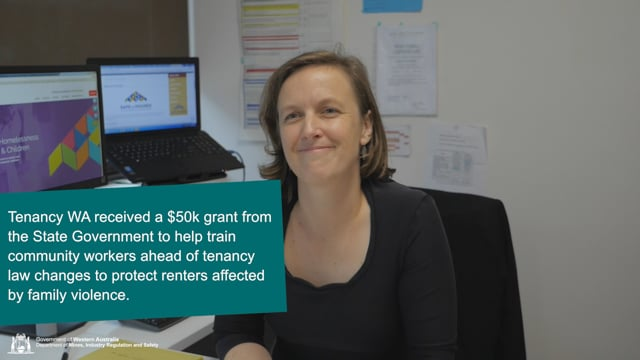 $50,000 grant key to Tenancy WA family violence education program