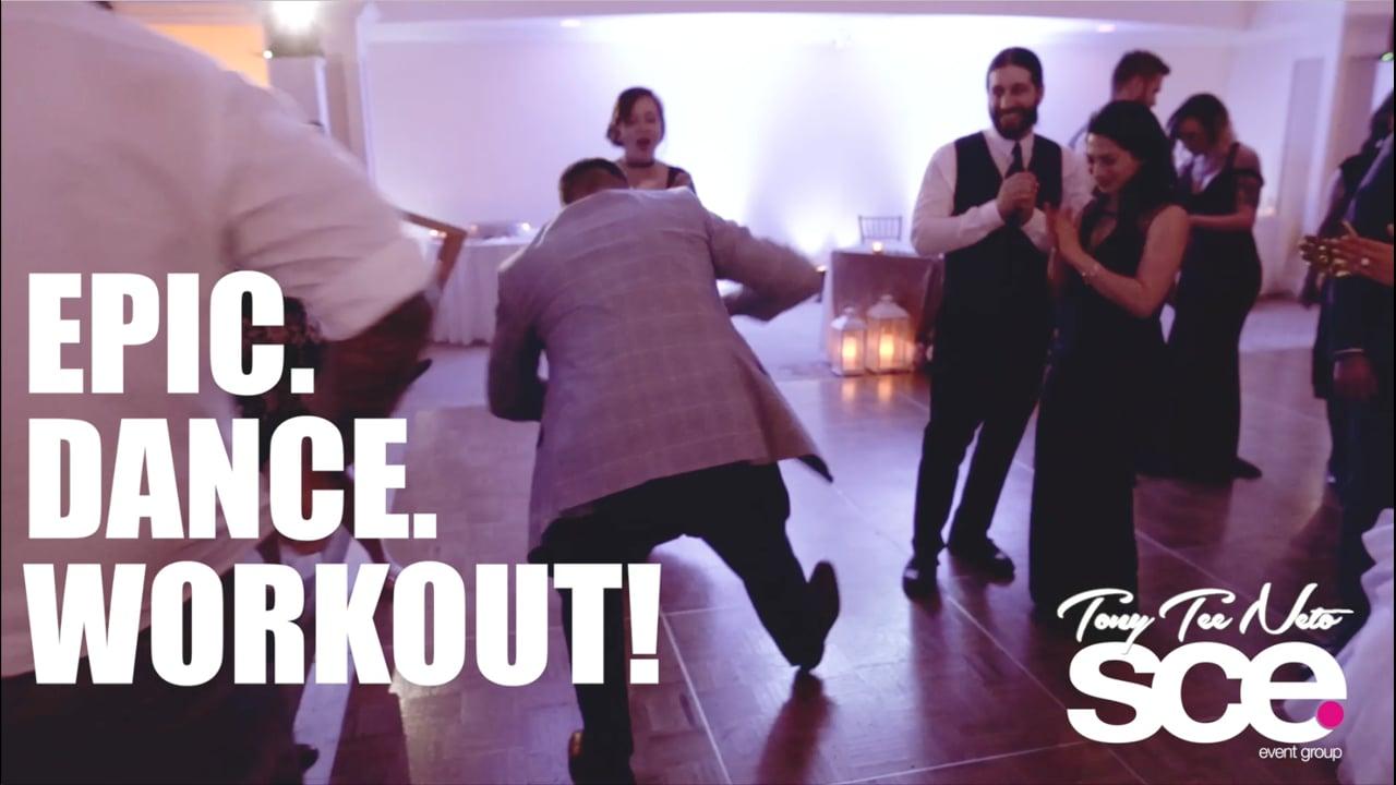 Real SCE Weddings - Rebekah & Jared Dance Workout - Carriage House - SCE Event Group - Tony Tee Neto