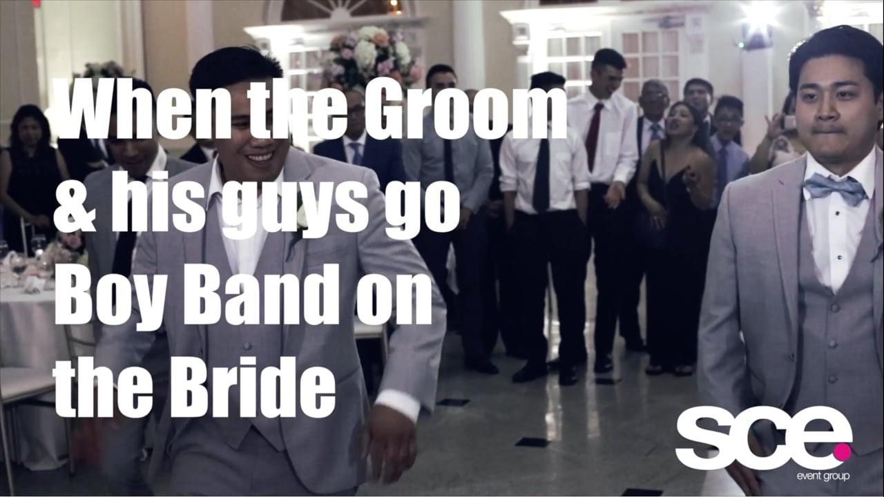 Real Weddings - Groom & Groomsman Do Boy Band - Kamille & Sam at Addison Park - SCE Event Group - Tony Tee Neto