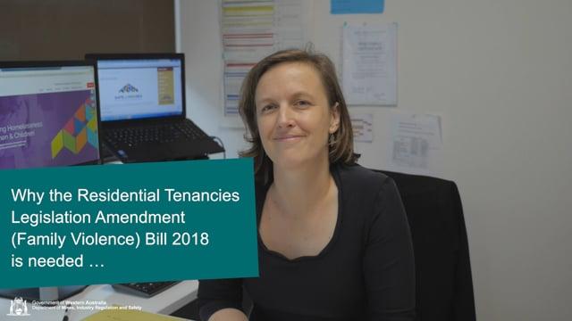 Why the Residential Tenancies Legislation Amendment (Family Violence) Bill 2018 is needed …