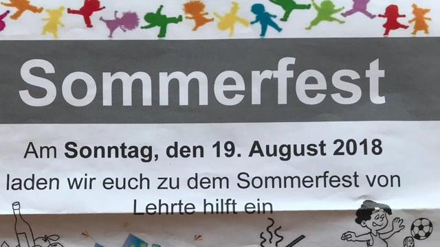 """Sommerfest 2018 beim DRK OV Lehrte mit """"Lehrte hilft"""""""