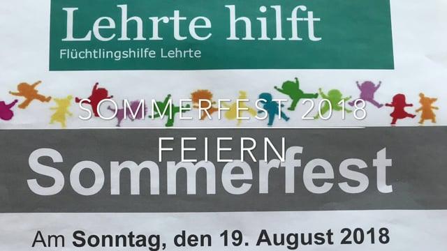 Sommerfest 2018 beim DRK mit Lehrte hilft - feiern