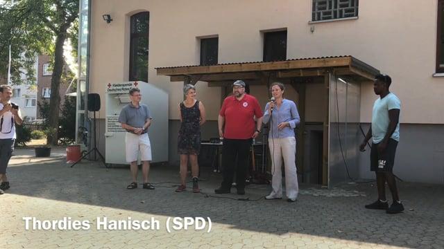 Sommerfest 2018 beim DRK mit Lehrte hilft - Ansprache Thordies Hanisch