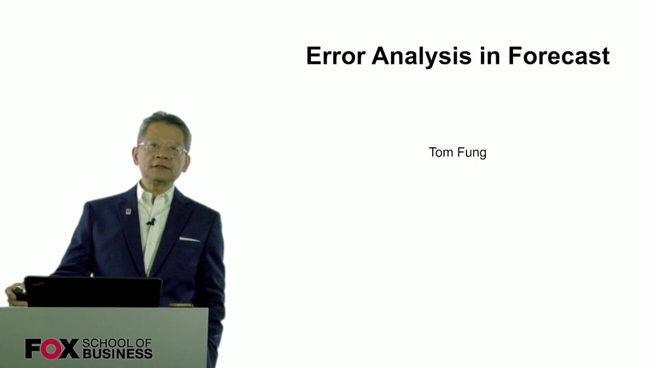 60880Error Analysis in Forecast